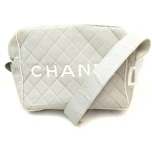 Auth Chanel Shoulder Bag Gray Canvas #N79714H91